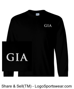 Men's Long-Sleeve T-Shirt - Black (Embroidered) Design Zoom